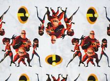 DISNEY INCREDIBLES 2 ACTION 100% COTTON FABRIC FAMILY OF SUPERHEROES BY THE YARD
