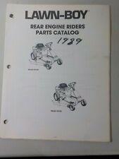 1989 Lawn Boy Rear Engine Tractor Rider Parts Catalog Manual 52144 52145 Dealer