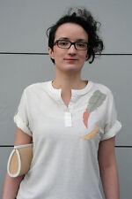 Damen T-Shirt woman Shirt Oberteil Federn 90er TRUE VINTAGE 90's Gr. 42 Blusen