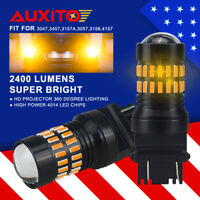 AUXITO 3157 4057 3057 Amber Yellow LED Turn Signal Light Bulb for Dodge Chrysler