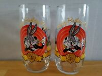 Happy Birthday Bugs Bunny Glass 50th Anniversary 1990 Vintage Looney Tunes