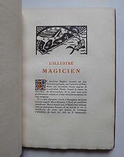 Comte de Gobineau L'ILLUSTRE MAGICIEN gravures de Charles Picart Le Doux 1920
