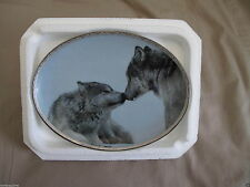 Compassion Bradford Exchange Plate, Tender Moments, wolves nose touch (Bl) hs