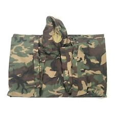 Military style rain outdoor poncho in throwback camo pattern Excellent condition