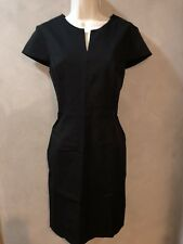 NWT Ladies Banana Republic LBD Black Stretch Dress 10 P Petite NEW cap sleeve