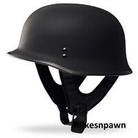 New XL Flat Black Fly Racing DOT Approved German Beanie STyle Motorcycle Helmet