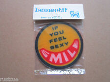 Smile If You Feel Sexy Vintage Leomotif Cloth Sew On Patch Badge Crafting Sewing
