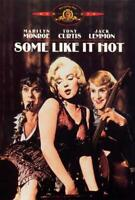Some Like It Hot Movie POSTER 27 x 40 Marilyn Monroe, Tony Curtis, Jack Lemmon,C