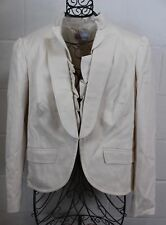 RED VALENTINO Whisper Pink Beige Cotton Wool Ruffle Blazer Jacket 12 50 Italy