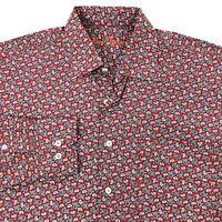 Alan Flusser Paisley Long Sleeve Button Front Shirt Mens MEDIUM