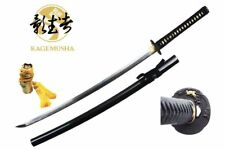 Kagemusha Full Tang 1060 Carbon Steel Japanese Katana Sword with Silk Bag NIB