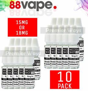 [10PACK] Nicotine Shots Nic Shot 88Vape E Liquid Vape Juice 10ml 18mg 15mg 100VG