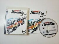 Burnout Paradise (Sony PlayStation 3, 2008) PS3 Complete Game Disc Case Manual