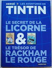 Tintin Le Secret de la Licorne & Le Trésor de Rackham Le Rouge HERGE Casterman
