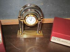 Rare Vintage Fisher Price Quartz Clock Employee Gift 5 year Portsmouth two tone
