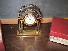 Rare Vintage Fisher Price Quartz Clock Employee Gift 5 year Portsmouth two tone
