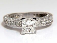 1.01ct Natural Princess cut diamond ring 14kt. +