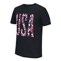 Adidas  Adidas Men's Black USA Olympic Flags Climalite Performance T-Shirt
