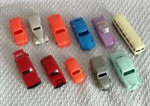 Lot CLE 11 voitures Bonux Renault Peugeot Citroën 1/48