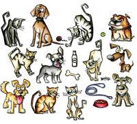 Sizzix Framelits Mini Die 18pc Set Crazy Cats & Dogs 661594 Use big shot machine