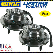 2 MOOG Front Wheel Hub and Bearing Assembly for F-150 2004-2008 w/ ABS 4WD - 4x4