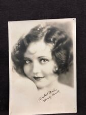 "Actress Nancy Carrol Picture Early 1930s With Her Signature 7"" X 5"""