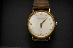 Vintage ~1954 IWC Schaffhausen Solid 18-K Gold Watch