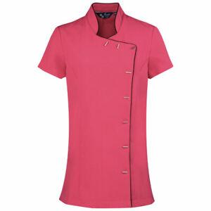 Premier Lily Beauty Tunic | Pink & Black | UK Size 10 | BN | Spa Uniform
