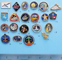 NASA enamel PIN lot of 21- vtg Space Shuttle ENDEAVOR Discovery COLUMBIA Group C
