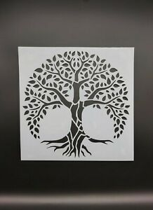 "Tree Of Life Stencil Large 11"" x 11"" Reusable"