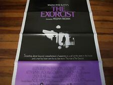 The Exorcist   poster  original 1 sheet   trifold  1974