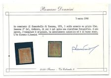 TOSCANA 1851 1 SOLDO ARANCIO SU GRIGIO USATO CERTIFICATO DONNINI