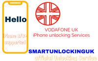 UK FAST Vodafone Unlocking service 8 8 PLUS 7 7 PLUS 6s 6 plus 5s CLEAN Imei