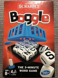 2014 Hasbro Scrabble Boggle Board Game -Complete