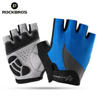 ROCKBROS Cycling Non-Slip Breathable Bicycle Gloves Gel Pad Half Finger Gloves