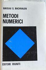 N. S. BACHVALOV METODI NUMERICI EDITORI RIUNITI MIR 1981