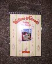 Wallace and Gromit Royal Mail Christmas Stamp Pin Badge