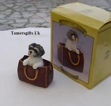 Leonardo Shih Tzu Dog In Travel Bag Xmas Gift Bnew