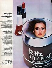 ▬► PUBLICITE ADVERTISING Maquillage crème Charles of the ritz 1978