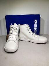 Birkenstock Bartlett Women 6/Men 4/EU37 White Leather High Top Sneakers X22-1037