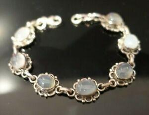 Moonstone Gemstone Bracelet - £230 - Solid Sterling Silver - (BRAND NEW)