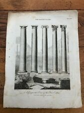1798 original print by j.wilkes - a comparative view of the five orders .