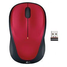 Logitech Design USB Maus Funk Wireless Funkmaus Laptop / PC rot Funk Laptop