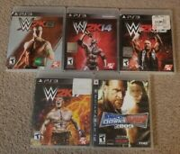 WWE WWF 2K14 2K15 2K16 2K17 Smackdown vs Raw 2009 Sony Playstation 3 PS3 CIB