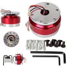 Aluminium Car Steering Wheel Quick Release HUB Adapter Snap Off Boss Kit Red New