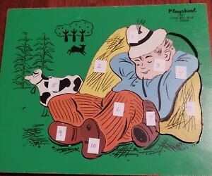 Wooden Puzzle Playskool Vintage Little Boy Blue 10 Replacement Pieces