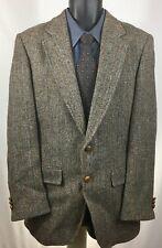 Harris Tweed Wool British Hill & Archer Gray Herringbone Sport Coat Mens Sz 40 L