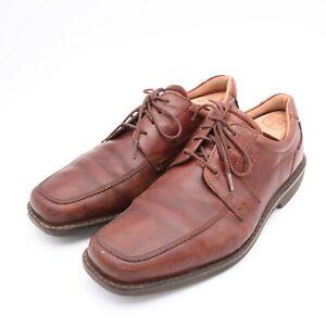 ECCO SEAWALKER Men 10-10.5 44 Brown Leather Casual Walking Oxford Boat Shoes