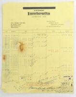 Vintage Collectable Sales Receipt 1950s R.W. Horner Ltd Manchester- Lambretta