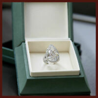 Pear Cut Diamond 14K White Gold Engagement & Wedding Ring Certified 2.75CT